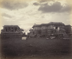 Views in Mysore. Ruined temple of Hallabeed [Hoysalesvara Temple, Halebid]. General view